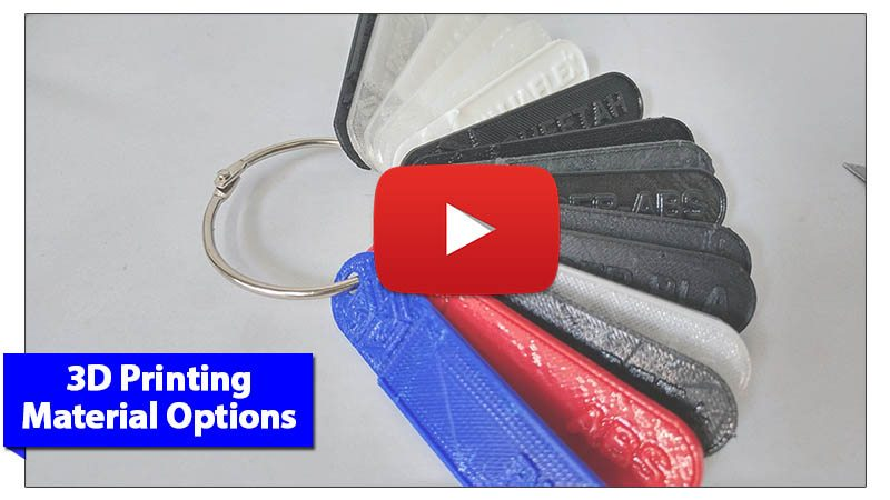 3D Printing Material Options