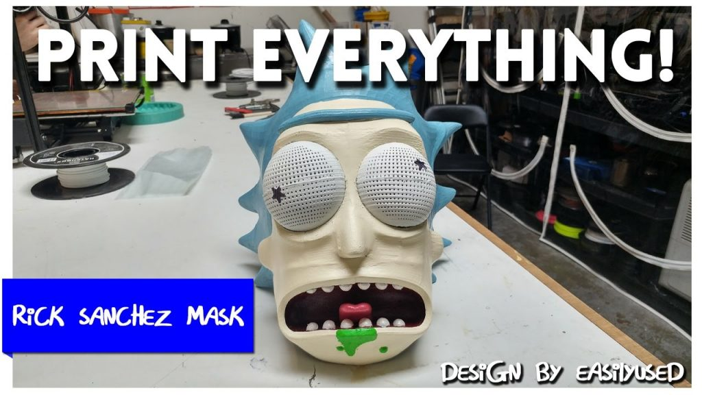 Rick Sanchez 3D Printed Mask