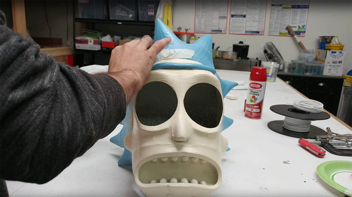 Rick and Morty 3D Printed Mask